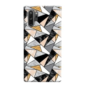 Geometric Black and Gold Marble Samsung Galaxy Note 10 Plus Case