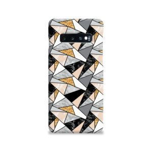 Geometric Black and Gold Marble Samsung Galaxy S10 Case