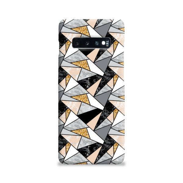 Geometric Black and Gold Marble Samsung Galaxy S10 Plus Case Cover