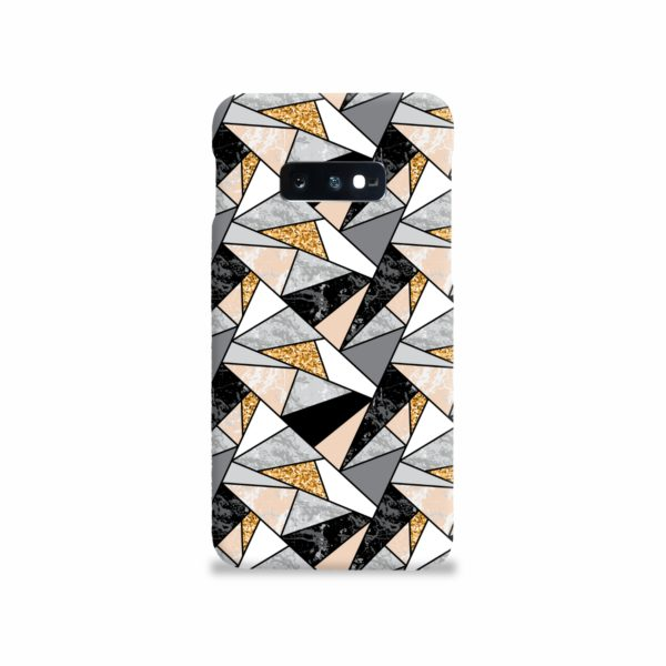 Geometric Black and Gold Marble Samsung Galaxy S10e Case Cover