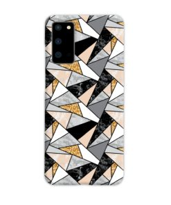 Geometric Black and Gold Marble Samsung Galaxy S20 Case