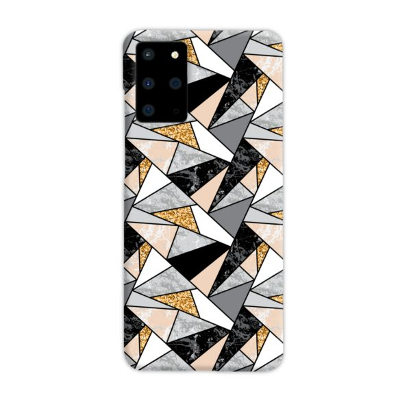 Geometric Black and Gold Marble Samsung Galaxy S20 Plus Case Cover