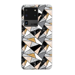 Geometric Black and Gold Marble Samsung Galaxy S20 Ultra Case