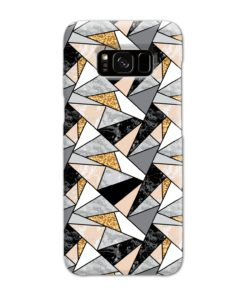 Geometric Black and Gold Marble Samsung Galaxy S8 Case