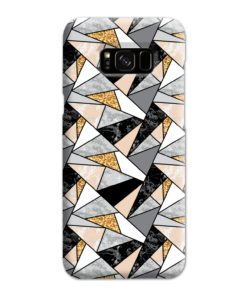 Geometric Black and Gold Marble Samsung Galaxy S8 Plus Case