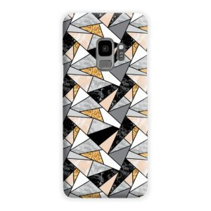 Geometric Black and Gold Marble Samsung Galaxy S9 Case Cover