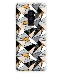 Geometric Black and Gold Marble Samsung Galaxy S9 Plus Case Cover