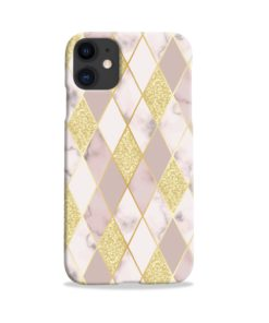 Geometric Gold Marble Shapes iPhone 11 Case