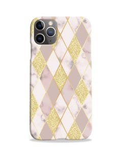 Geometric Gold Marble Shapes iPhone 11 Pro Case Cover