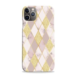 Geometric Gold Marble Shapes iPhone 11 Pro Max Case Cover