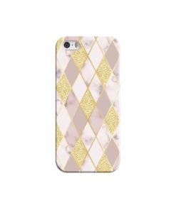 Geometric Gold Marble Shapes iPhone 5 Case Cover