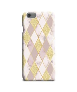Geometric Gold Marble Shapes iPhone 6 Case Cover