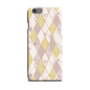 Geometric Gold Marble Shapes iPhone 6 Plus Case