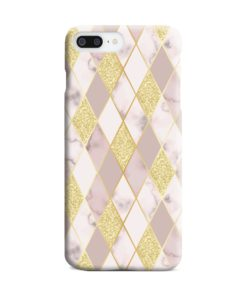 Geometric Gold Marble Shapes iPhone 7 Plus Case