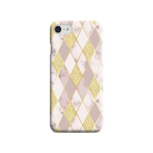 Geometric Gold Marble Shapes iPhone 8 Case Cover