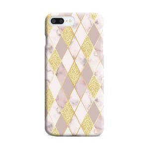 Geometric Gold Marble Shapes iPhone 8 Plus Case Cover