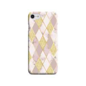 Geometric Gold Marble Shapes iPhone SE Case