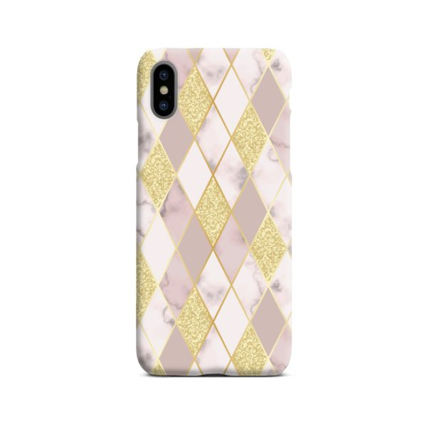 Geometric Gold Marble Shapes iPhone X / XS Case