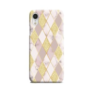 Geometric Gold Marble Shapes iPhone XR Case