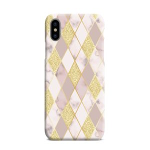 Geometric Gold Marble Shapes iPhone XS Max Case Cover