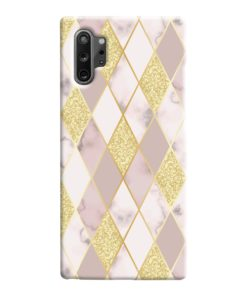 Geometric Gold Marble Shapes Samsung Galaxy Note 10 Case Cover