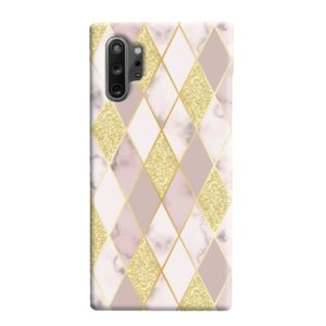 Geometric Gold Marble Shapes Samsung Galaxy Note 10 Plus Case
