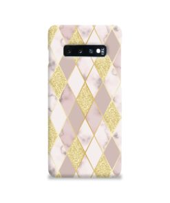 Geometric Gold Marble Shapes Samsung Galaxy S10 Case Cover