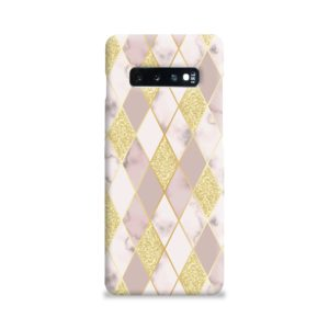 Geometric Gold Marble Shapes Samsung Galaxy S10 Plus Case Cover