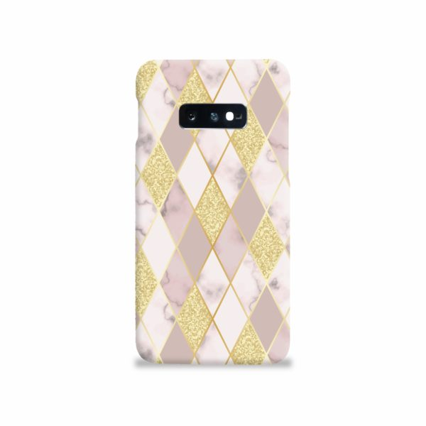Geometric Gold Marble Shapes Samsung Galaxy S10e Case Cover