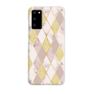 Geometric Gold Marble Shapes Samsung Galaxy S20 Case