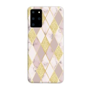 Geometric Gold Marble Shapes Samsung Galaxy S20 Plus Case Cover