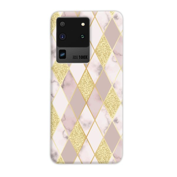 Geometric Gold Marble Shapes Samsung Galaxy S20 Ultra Case Cover