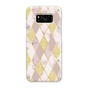 Geometric Gold Marble Shapes Samsung Galaxy S8 Case