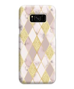 Geometric Gold Marble Shapes Samsung Galaxy S8 Plus Case