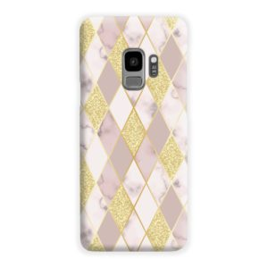 Geometric Gold Marble Shapes Samsung Galaxy S9 Case Cover