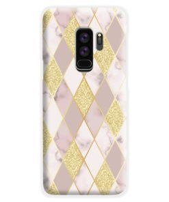 Geometric Gold Marble Shapes Samsung Galaxy S9 Plus Case