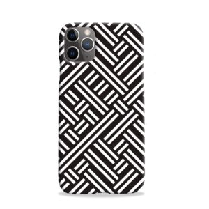 Monochrome Geometric Patterns iPhone 11 Pro Case