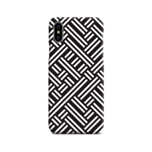 Monochrome Geometric Patterns iPhone X / XS Case Cover