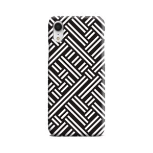 Monochrome Geometric Patterns iPhone XR Case Cover