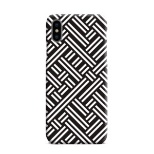 Monochrome Geometric Patterns iPhone XS Max Case Cover
