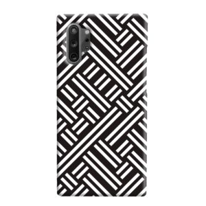 Monochrome Geometric Patterns Samsung Galaxy Note 10 Plus Case Cover