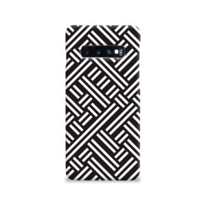 Monochrome Geometric Patterns Samsung Galaxy S10 Case