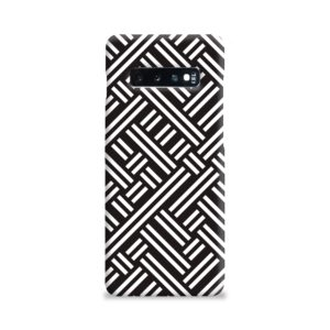 Monochrome Geometric Patterns Samsung Galaxy S10 Plus Case
