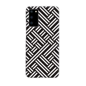 Monochrome Geometric Patterns Samsung Galaxy S20 Case Cover