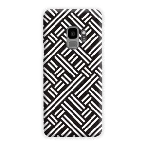 Monochrome Geometric Patterns Samsung Galaxy S9 Case Cover