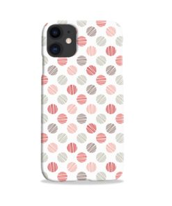 Pink Polka Dots Pattern iPhone 11 Case Cover