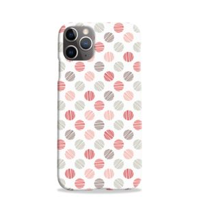 Pink Polka Dots Pattern iPhone 11 Pro Case