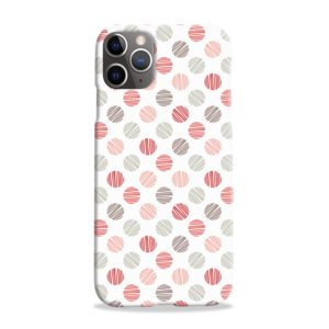 Pink Polka Dots Pattern iPhone 11 Pro Max Case Cover