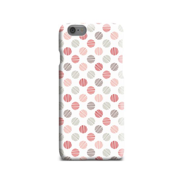 Pink Polka Dots Pattern iPhone 6 Case Cover