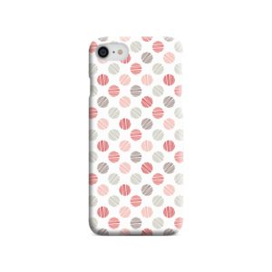 Pink Polka Dots Pattern iPhone 8 Case Cover